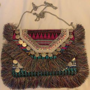 Express beaded/fringe embellished purse